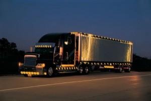 Truck mit Licht bzw. Refelxfolie