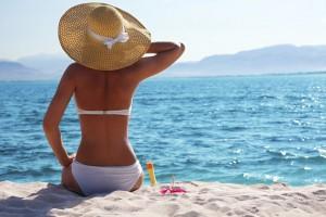 Sonnenschutz für das Sonnenbad